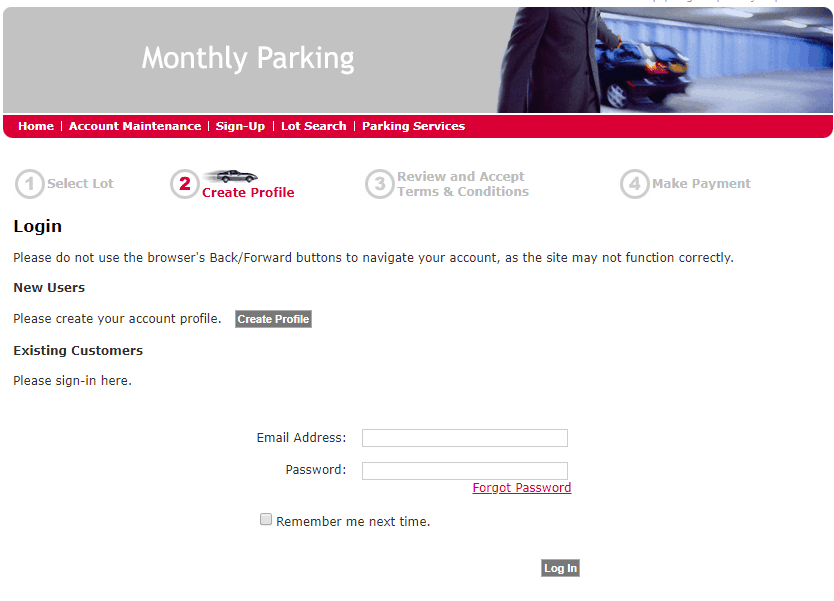Sign up Code - Step 4 - Impark Monthly Parking Discount